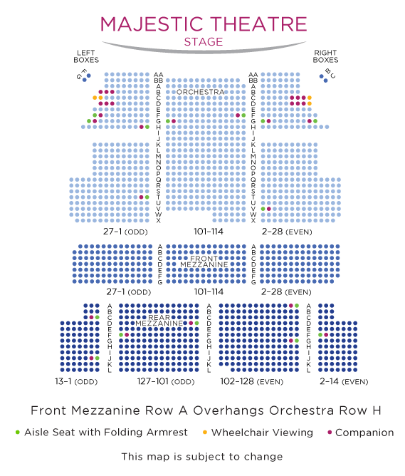 Majestic-Theatre-Seating-Chart
