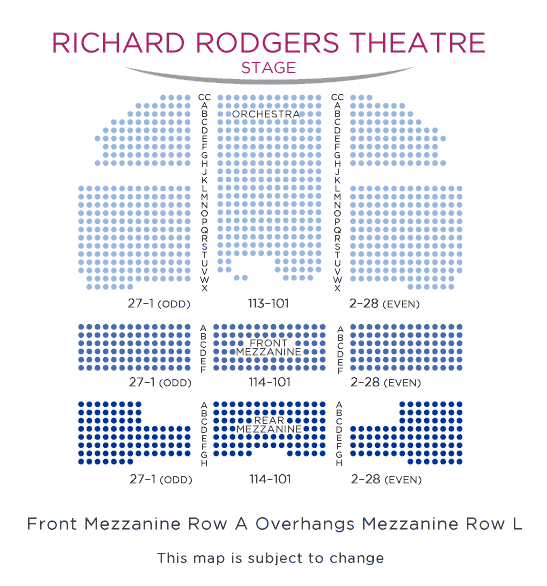 Richard-Rodgers-Theatre-Broadway-Seating nyc