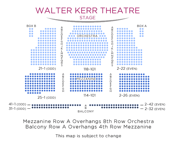 Walter-Kerr-Theater-Seating-Chart